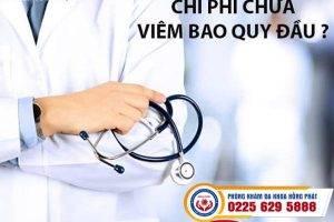 Chi phí chữa viêm bao quy đầu có đắt không?